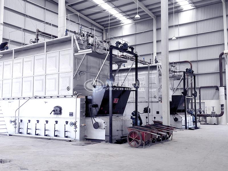 新疆警官學校10.5MW SZL系列燃煤熱水鍋爐項目