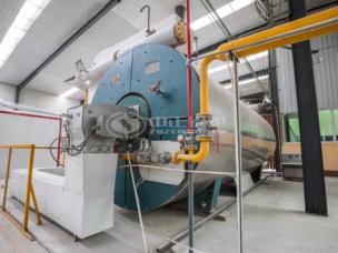 鞏義富達700萬大卡YQW系列燃氣臥式導熱油油爐項目