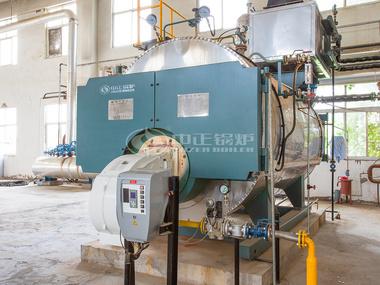 中正WNS燃气蒸汽锅炉现场运行图(豫港制药)
