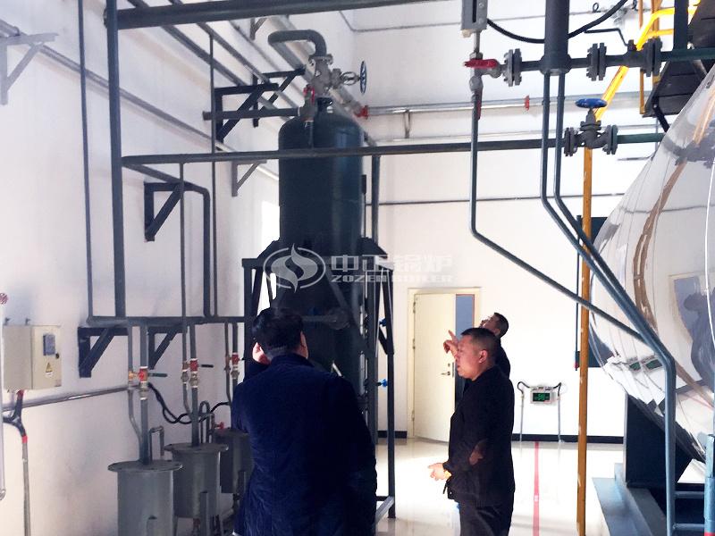 國藥集團10噸WNS系列燃氣鍋爐項目