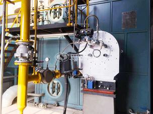 保定華康紙業20噸SZS系列冷凝式燃氣蒸汽鍋爐項目