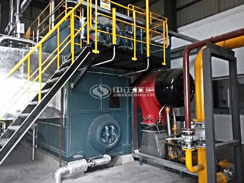 中煙施偉策20噸SZS系列燃氣蒸汽鍋爐項目