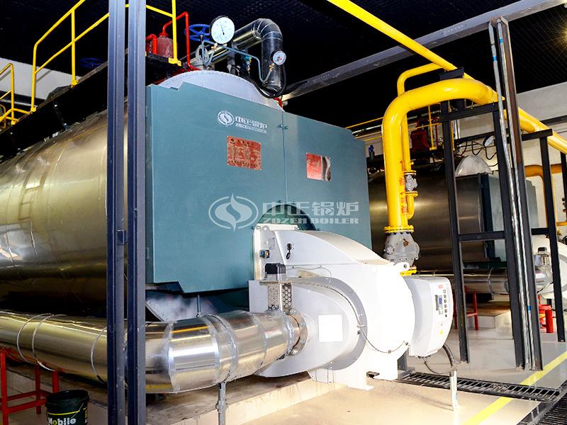 維達紙業15噸WNS系列冷凝式燃氣蒸汽鍋爐項目