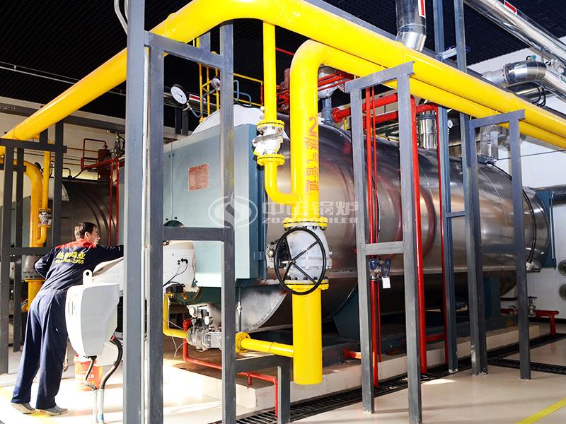 玉祁酒業4噸WNS系列冷凝式燃氣鍋爐項目