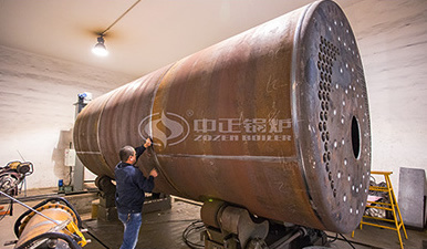 SZL系列燃煤热水锅炉施工现场