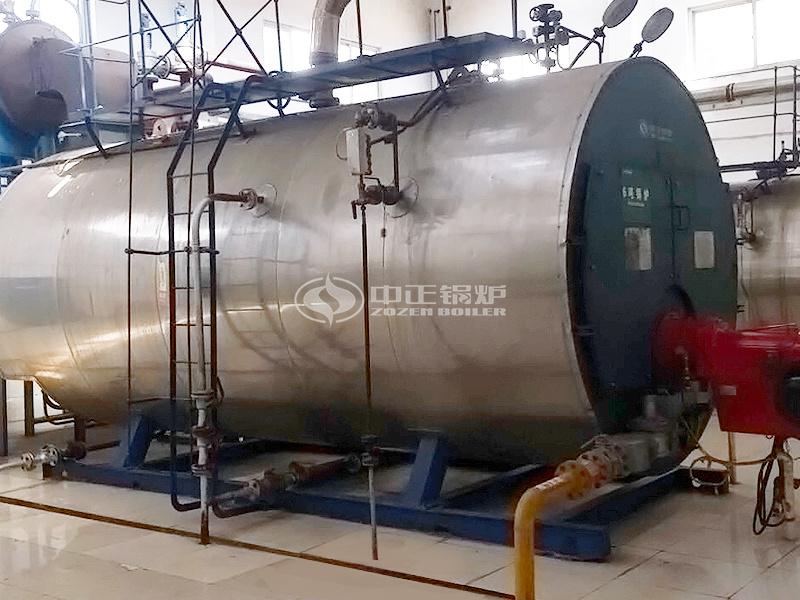 洛陽君山制藥6噸WNS系列冷凝式燃氣蒸汽鍋爐項目