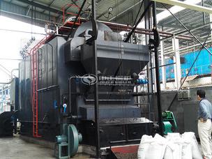 家和制藥4噸DZL生物質蒸汽鍋爐項目