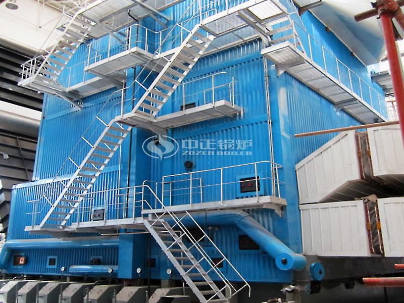 中國醫大29-46MW DHL系列角管式水管熱水鍋爐項目