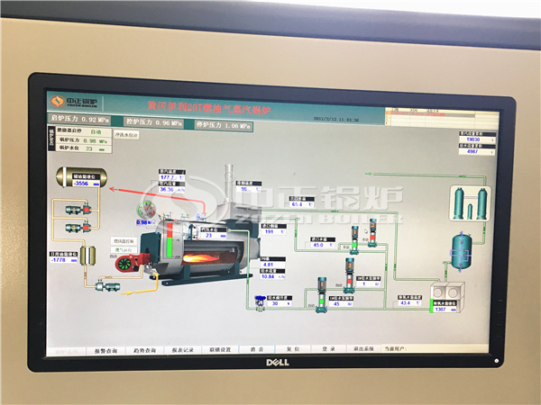 The operation interface of ZOZEN PLC control system