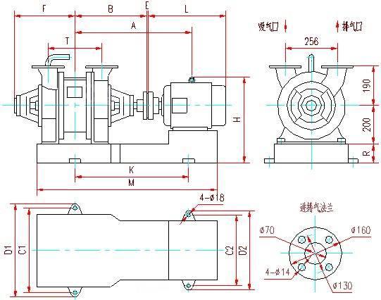 SZ系列水环真空泵安装尺寸