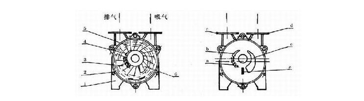 SK水环真空泵结构图