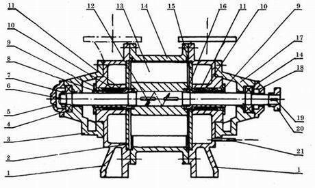 SK真空泵机组结构图