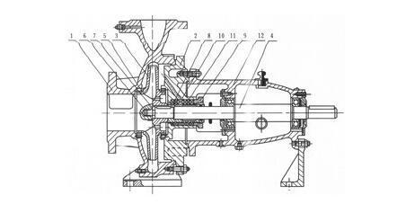 单级柴油机水泵结构图
