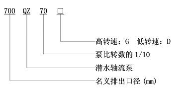 QZ型潜水轴流泵型号说明
