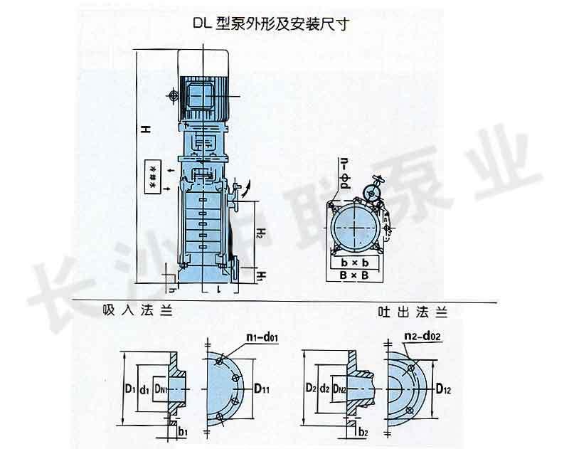 DLR立式多級水泵安裝圖