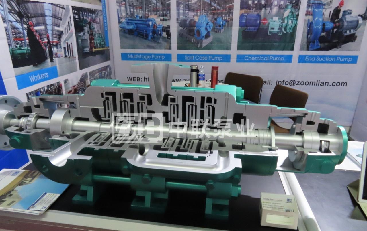 2019越南工業博覽會:自平衡多級泵展會現場模型MD12-25×6(P)