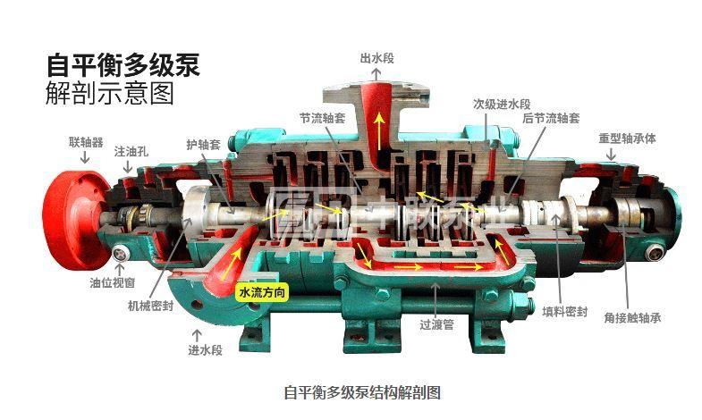 卧式自平衡多级离心泵结构图