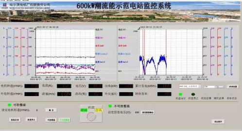 600KW海底式潮流发电机系统