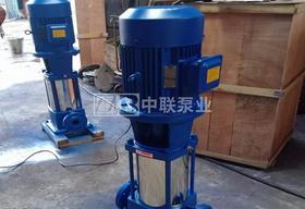 2台流量24m³/h的65GDL24-20x8立式多级离心泵发往湖北宜昌
