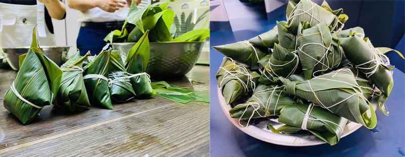 roulette board game Group held the Dragon Boat Festival making Zongzi event