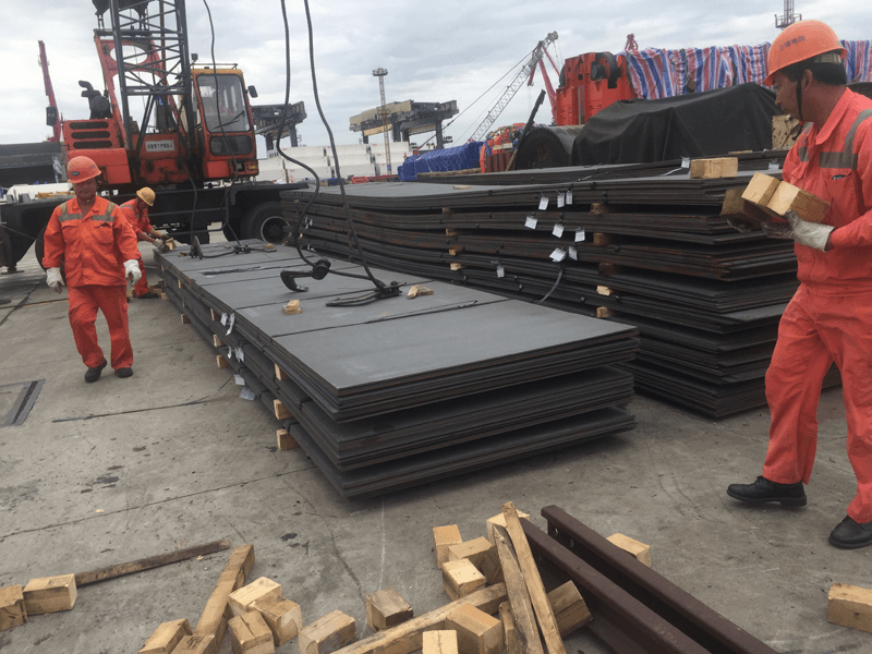 1070 tons ASTM A36 steel plate and checker plate to Sudan