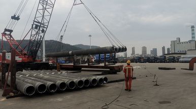 5920 tons CWC API 5L X60MO PSL2 LSAW steel pipe to Nigeria