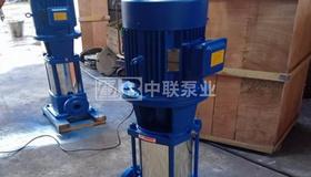 2台流量24m?/h的65GDL24-20x8立式多级离心泵发往湖北宜昌