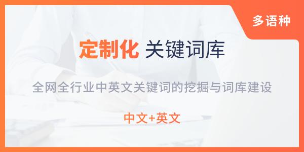 定制化关键词库建设服务(双语种)