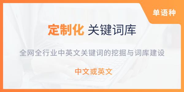 定制化关键词库建设服务(单语种)