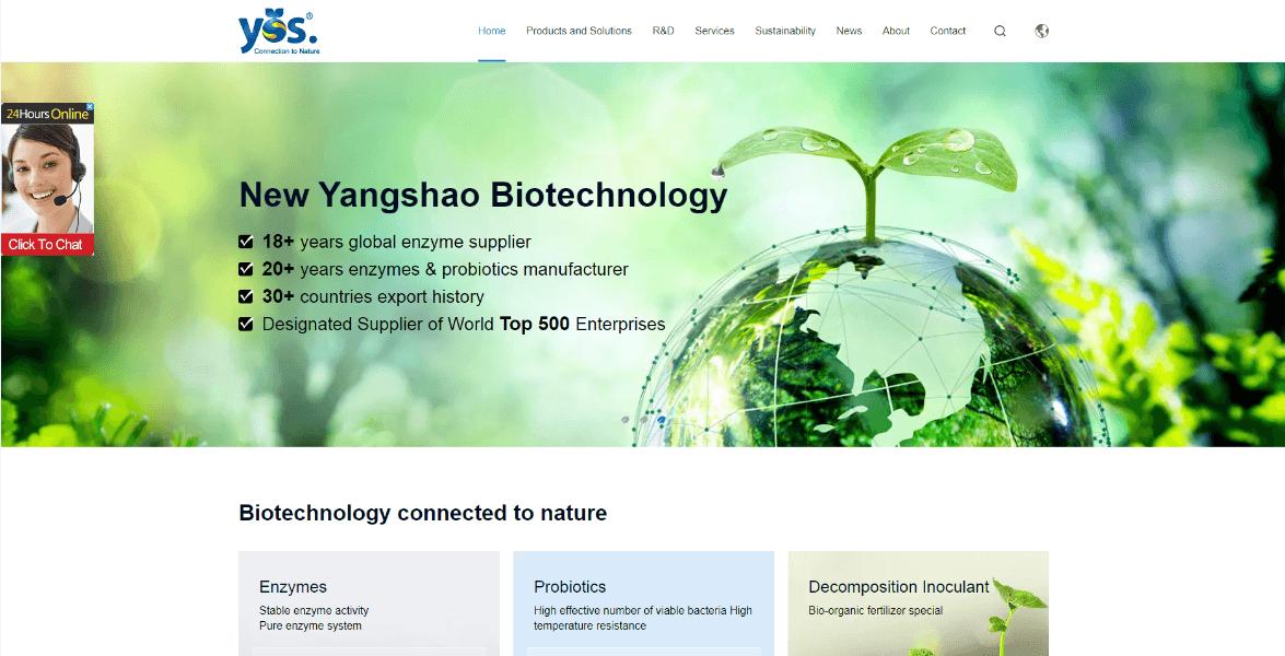 河南仰韶新生物科技全案定制悉知外貿網站