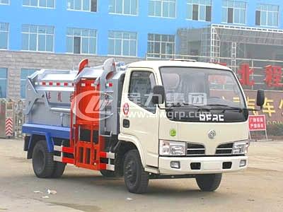 東風小霸王側裝掛桶式壓縮垃圾車
