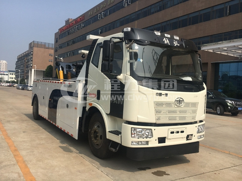 <b>解放J6拖吊連體重型道路救援清障車</b>