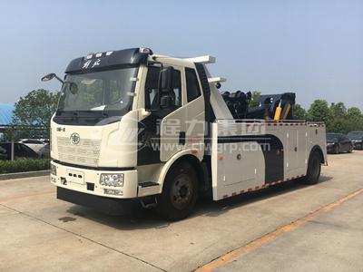 解放J6拖吊連體重型道路救援清障車