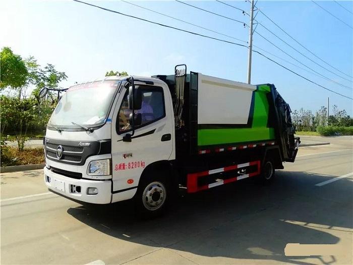 福田歐馬可8方垃圾壓縮車價格