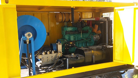 建筑工程高壓水助力打樁施工現場