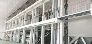 黑龍江依蘭日使用華豫萬通設計的250噸玉米加工生產線