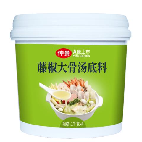 藤椒大骨湯底料-1千克x4袋