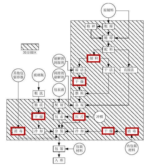 药品制剂工艺流程图