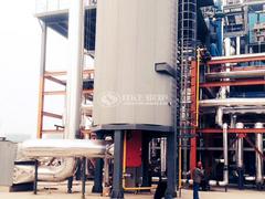 吉美印染700万大卡YQL系列燃气立式导热油锅炉项目