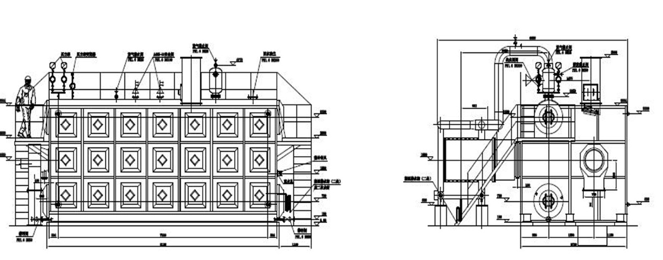 SZS蒸汽锅炉系统图