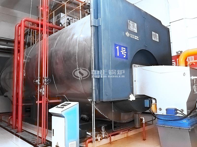 华盛橡胶10吨WNS系列冷凝式燃气锅炉项目