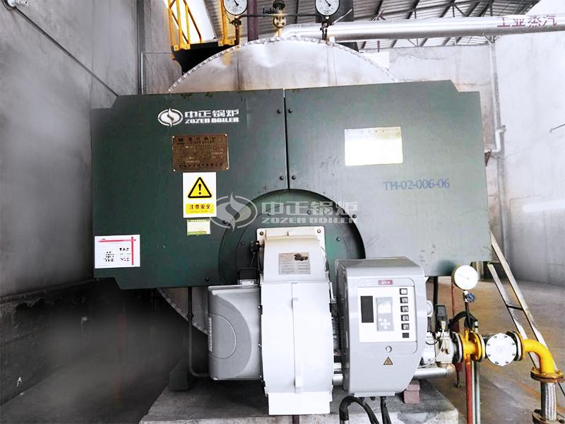 五谷春酒业6吨WNS系列冷凝式燃气锅炉项目