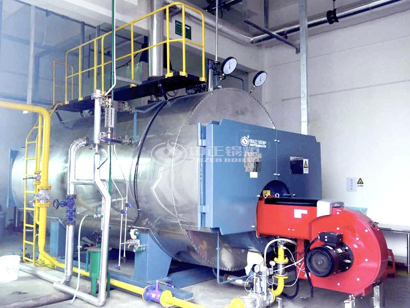 广东济丰包装纸业5吨WNS系列冷凝式燃气蒸汽锅炉项目
