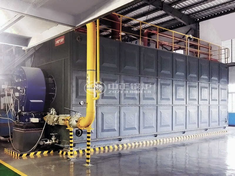 江西铜业40吨SZS系列冷凝式燃气锅炉项目