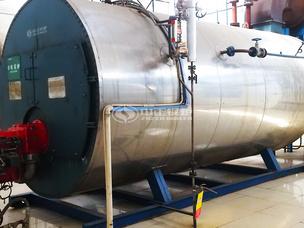 溧阳罗地亚稀土10吨WNS系列冷凝式燃气蒸汽锅炉项目