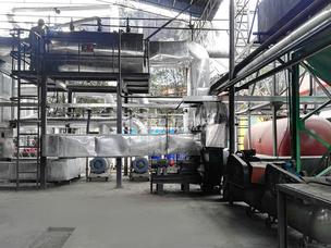 澄润石油化工500万大卡YQW系列燃气卧式导热油锅炉项目