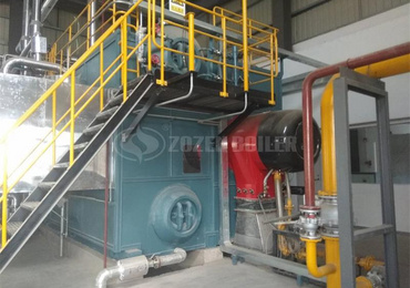 20 tph SZS gas-fired steam boiler for cigarette factory