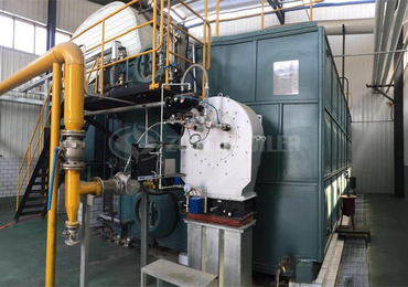 25 tph SZS condensing gas-fired boiler for dairy industry