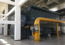 6 tph SZS condensing gas-fired boiler for  cable factory
