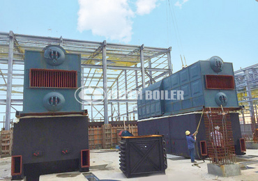 15 tph SZL biomass-fired water tube boiler project for paper industry in Papua New Guinea
